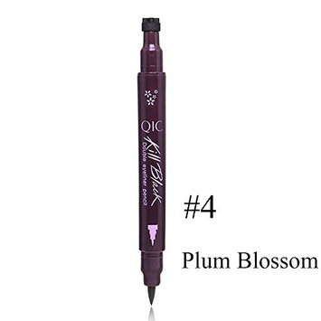 Erovy - 1PC Pro Waterproof Liquid Eyeliner Stamp Eye Liner Pencil Long-last Double Head Eyeliner Stamping Women Beauty Makeup Tools [Plum Blossom]