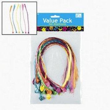 12 pc Colorful Neon Nylon Braided Hair Attachments