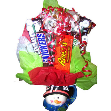 Frosty The Snowman Candy Bouquet Gift Basket
