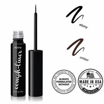 CUEPIDO Oomph-liner Stay All Day, Waterproof, No Smudge Liquid Eyeliner (BLACK) - Ebony 0.17oz/4.8g