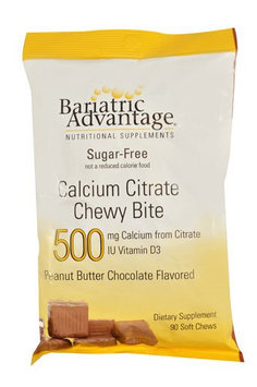 Bariatric Advantage Calcium Citrate Chewy Bite Peanut Butter Chocolate 500 mg - 90 Soft Chews