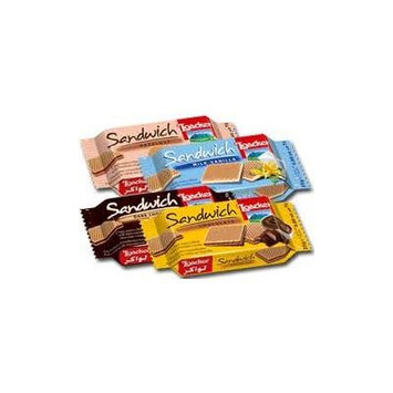 Loacker Sandwich King, (Hazelnut, Dark Chocolate, Milk Vanilla, Chocolate) , 25g (Pack of 20)