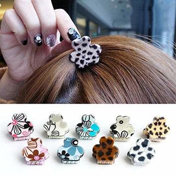 12Pcs Mini Leopard Jaw Clips Hair Claws Mini Hair Clips Barrettes Hair Accessories For Women Girls