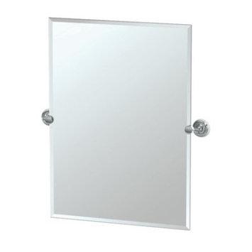 Gatco Designer II 25 in. x 24 in. Frameless Single Small Rectangle Mirror in Chrome