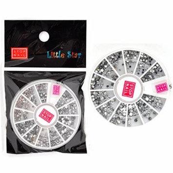 Stop Nail 12 Nail Wheels Mix Size Acrylic Dots Clear Color for Nail Art Nail Decoration DH-4035