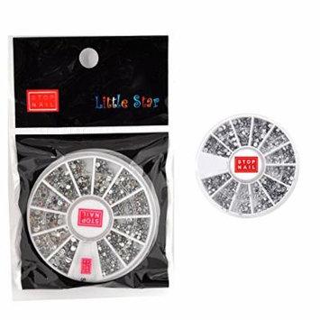 Stop Nail 12 Nail Wheels AB color Acrylic Dots for Nail Art Nail Decoration Nail Sticker DH4043
