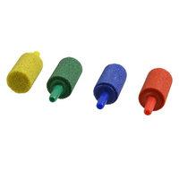 Cylinder Colorful Mineral Stone Aquarium Bubble Air Stones Airstones 4 Pcs