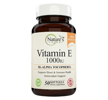 Nature's Potent - Vitamin E 1000 IU, 50 Softgels