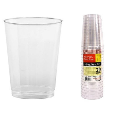 Hanna K Signature 2184589 10 oz Clear Tall Tumbler Heavyweight - Pack of 25