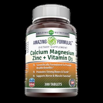 Amazing Nutrition Amazing Formulas Calcium Magnesium Zinc 300 Vitamin D3 Tablets