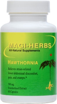 Magi-herbs Hawthornia 500 mg 60 GCapsules - could relieve most symptoms of groin, femoral, inguinal hernias, and umbilical hernias