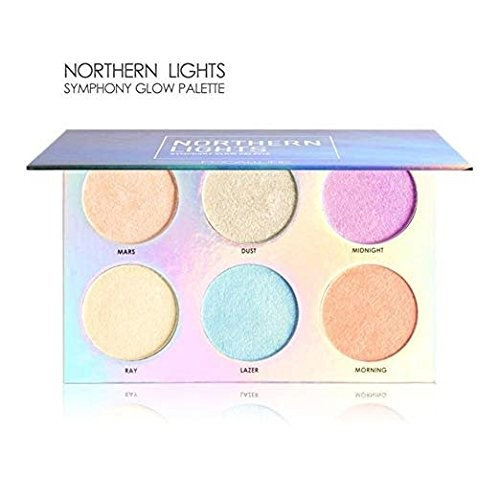 6 Colors Unicorn Symphony Glow Palette Makeup Glitter Face Glow Shimmer Bronzer Highlighter Shimmer Powder Shimmer