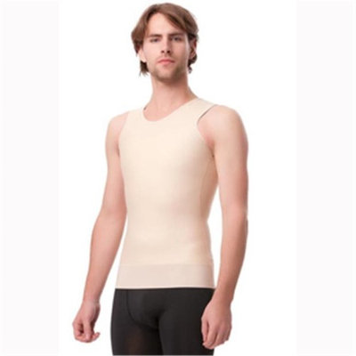 Isavela MG05 Stage 2 Vest Tank With 3 in. Waist Elastic Band, Black - Large