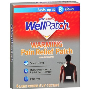 Wellpatch Capsaicin Deep Relief Patch 4 x 8 in. 32 Count (2 Pack)