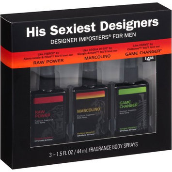 Parfums De Coeur Ltd Designer Imposters His Sexiest Designer Trio Gift Set, Mascolino/Game Changer/Raw Power, 3 pc