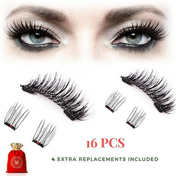 2018-NEW VS-《VINTAGE JEWELRY BOX INCLUDED》-3D Magnetic Eyelashes Full eye GIFT SET cover-Reusable false lashes-wispies fake lash one two cosmetic-One two Lash-For all eye shapes- glue free wispy lash