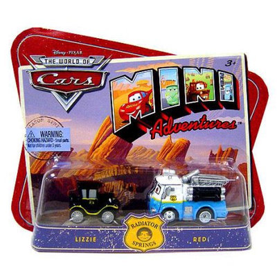 Mattel Disney Cars Mini Adventures Lizzie & Red Plastic Car 2-Pack