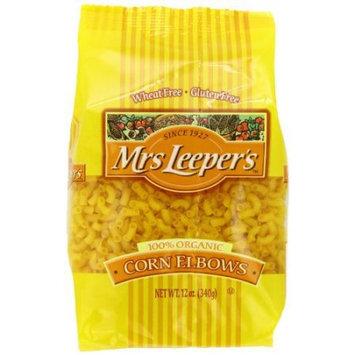 Mrs Leepers Corn Elbows, Organic, 12 OZ (Pack of 2)