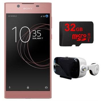 Sony Xperia L1 16GB 5.5-inch Smartphone, Unlocked (Pink) w/ VR Accessory Bundle