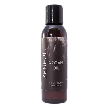 Moroccan Argan Oil by Zenful - 4 oz bottle - 100% PURE- Undiluted, cold-pressed- Great for skin, hair, beards, nails, and anti-aging- Vegan & Animal Cruelty Free- Easy Dispensing Cap included