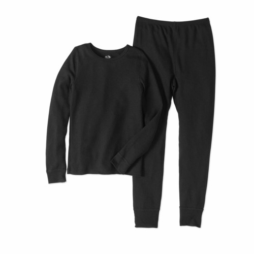 Girls' Soft Waffle Thermal Underwear Set