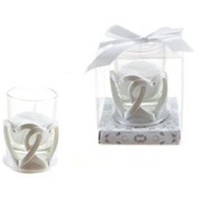 Ddi Double Heart Poly Resin Candle Set(Case of 48)