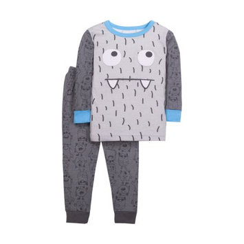 Little Star Organic Newborn Baby Boy Tight Fit 2pc Pajamas