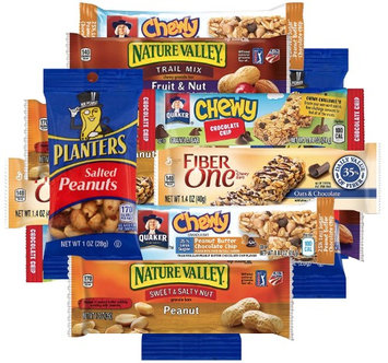 West End Foods Bulk Snacks Care Package Bundle Assortment Sampler, Variety lb, Nature Valley and Fiber One Granola Bars and Peanuts
