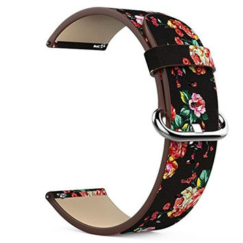 AutumnFall For Fitbit Versa Bands, 2018 Hot Sale Printed Leather Strap Accessory Band Bracelet Quick Release Watchband for Fitbit Versa,22MM Band Wide Length:190mm