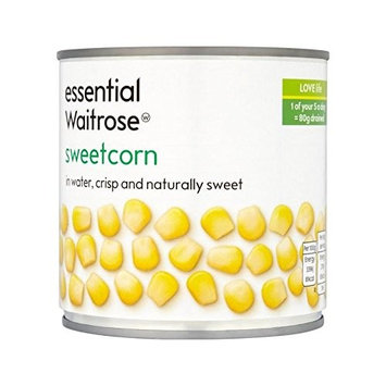 Essential Waitrose® Canned Sweetcorn In Water Naturally Sweet