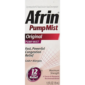 Afrin 12 Hour Pump Mist, Original, 0.5 Ounce [New Pack]