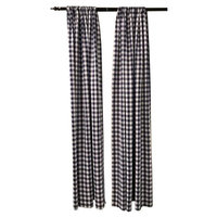 LA Linen BDcheck58x96-2Pk-NavyK72 Polyester Gingham Checkered Backdrop White & Navy - 58 x 96 in. - Pack of 2