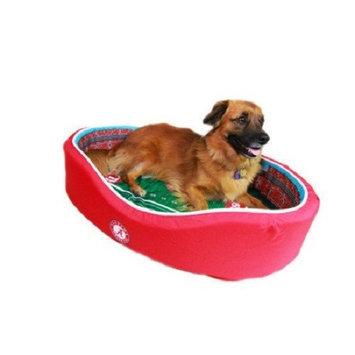 NCAA Football Dog Bed, Texas AandM, Small - 18 x 22 (1-30 lbs)