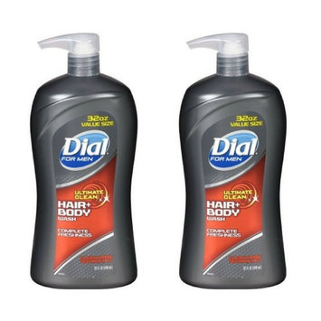 Dial for Men Hair and Body Wash, Ultimate Clean, 32 Ounces (Pack of 2)