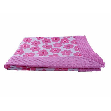 Blue Baby Bum 710560426218 Forever Baby Blanket Bloom One Size - Pink & White