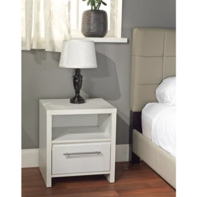 Ava 1-Drawer Nightstand, Multiple Colors