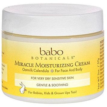 Babo Botanicals Miracle Cream - Moisturizing - Oatmilk - 2 oz - Dairy Free - For Very Dry Sensitive Skin