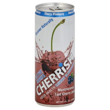 Cherrish 8 oz. All-Natural Tart Cherry Juice - Blueberry, Case Of 24