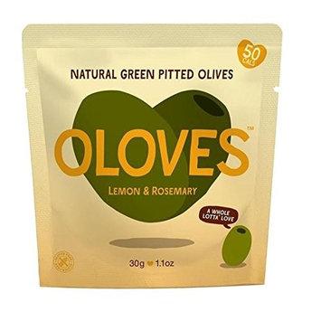 Oloves Lemon & Rosemary Marinated Pitted Green Olives 30g