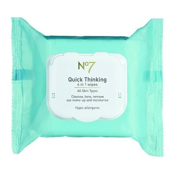 Boots No7 Quick Thinking 4-in-1 Wipes 30 ea
