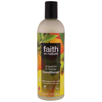 Faith in Nature, Conditioner, For Normal to Oily Hair, Grapefruit & Orange, 13.5 fl. oz (400 ml) [Scent : Grapefruit & Orange]