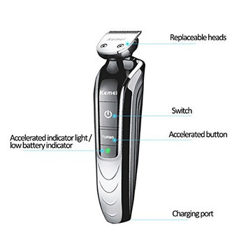 Yvonne 5 in 1 Waterproof Rechargeable Electric Men Women Grooming Shaver Kit New Electric Personal Shaver Nose Hair Trimmer Beard Trimmer Shaver Precision Rechargeable Hair Cutting Machine Shaver