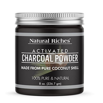 Natural Riches Activated Charcoal Powder, from 100% Pure Coconut Shells, 8 oz