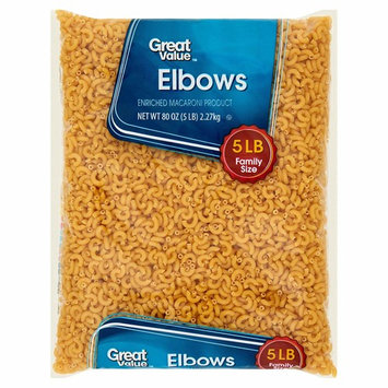 (2 pack) Great Value Elbow Macaroni, 5 lb Great Addition to Any Wholesome Meal : Grocery & Gourmet Food
