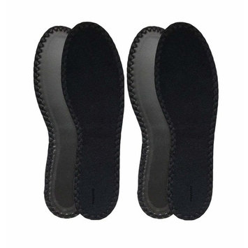HappyStep® 2 Pairs Terry Insoles The Best Barefoot Insoles, Ideal for Walking, Jogging and Running in All Seasons, Washable and Reusable, Black (Men Size 9)