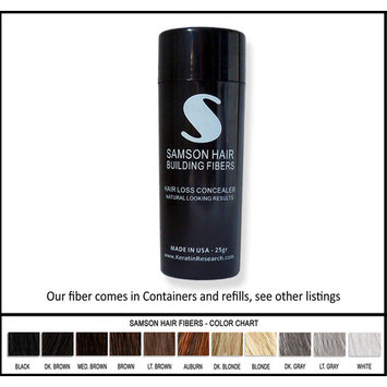 LIGHT BROWN color Samson Best Hair Loss Concealer Building Fibers CONTAINER With 25 grams USA Also Fits Other Spray Applicators