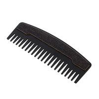 MagiDeal Black Steel Static Free Wide Teeth Beard Comb Men Mustache Grooming Brush Pocket Size Massage Hair Detangling Comb