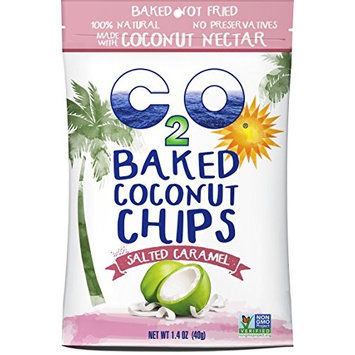 C2O Baked Coconut Chips, Salted Caramel, 1.4 Ounce (Pack of 12)