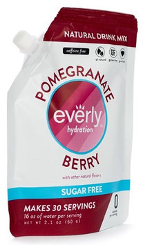 Everly Hydration Drink Mix, Pomegranate Berry Flavored Powdered Drink Mix - 30 servings in Pouch - Sugar Free, Low Calorie, All Natural