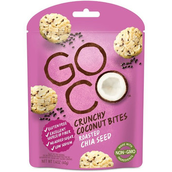 GoCo, Crunchy Coconut Bites, Roasted Chia Seed, 1.4 oz (40 g) [Flavor : Roasted Chia Seed]